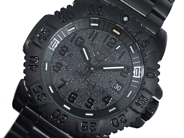 ルミノックス LUMINOX ネイビーシールズ ダイバーズ スイス製 腕時計 3152 BLACK OUT ブラック ラバーベルト-1