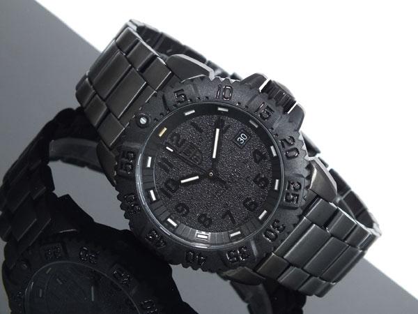 ルミノックス LUMINOX ネイビーシールズ ダイバーズ スイス製 腕時計 3152 BLACK OUT ブラック ラバーベルト-2