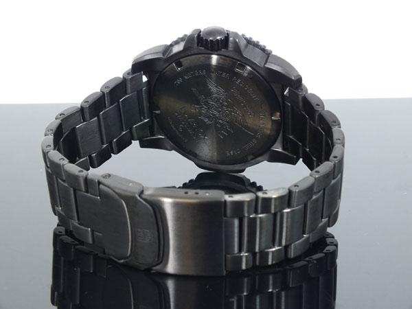 ルミノックス LUMINOX ネイビーシールズ ダイバーズ スイス製 腕時計 3152 BLACK OUT ブラック ラバーベルト-3