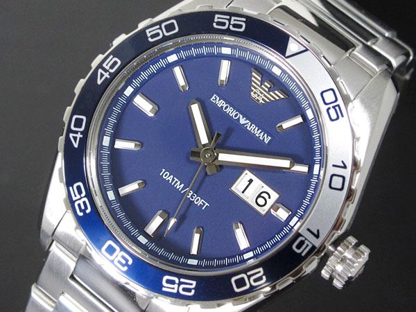 エンポリオ アルマーニ EMPORIO ARMANI メンズ 腕時計 AR6048 ネイビー×シルバー メタルベルト-1