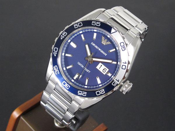 エンポリオ アルマーニ EMPORIO ARMANI メンズ 腕時計 AR6048 ネイビー×シルバー メタルベルト-2