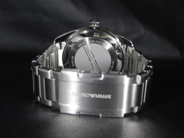 エンポリオ アルマーニ EMPORIO ARMANI メンズ 腕時計 AR6048 ネイビー×シルバー メタルベルト-3