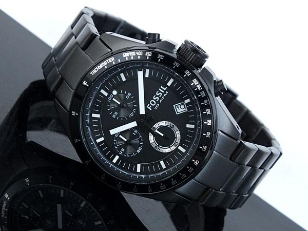 フォッシル FOSSIL クロノグラフ クオーツ 腕時計 CH2601 メンズ ブラック メタルベルト-2