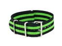 Watch WATCH nylon substitute belt 009-BKGR-SS22 (59004) black X green