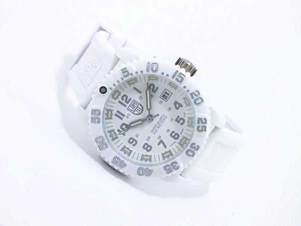 ルミノックス LUMINOX ネイビーシールズ カラーマーク メンズ スイス製 腕時計 3057 ホワイトアウト ラバーベルト-2