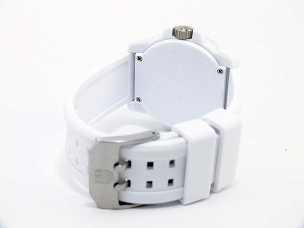 ルミノックス LUMINOX ネイビーシールズ カラーマーク メンズ スイス製 腕時計 3057 ホワイトアウト ラバーベルト-3