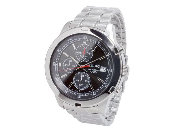 セイコー SEIKO 逆輸入 クロノグラフ メンズ 腕時計 SKS421P ブラック×シルバー メタルベルト-2