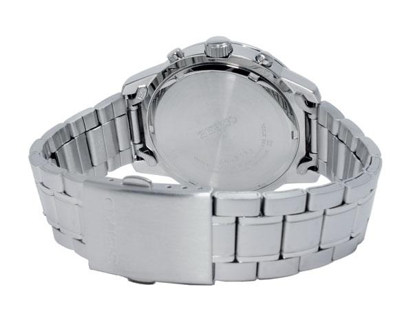 セイコー SEIKO 逆輸入 クロノグラフ メンズ 腕時計 SKS421P ブラック×シルバー メタルベルト-3