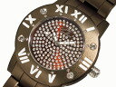 GALLUCCI UNI Gallucci uni stone watch aluminum WT23451QZ-BR Womens mens Brown
