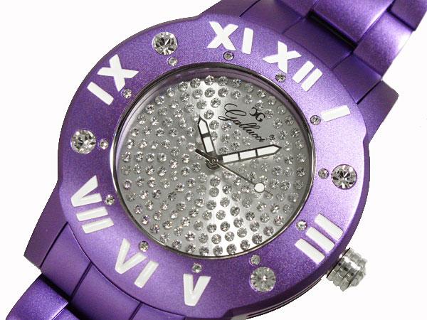 GALLUCCI UNI ガルーチ ユニ ストーン 腕時計 アルミ WT23451QZ-PU レディース メンズ パープル-1