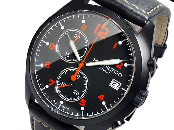 ハミルトン HAMILTON カーキ パイロット パイオニア クロノグラフ メンズ 腕時計 H76582733 レザーベルト-1
