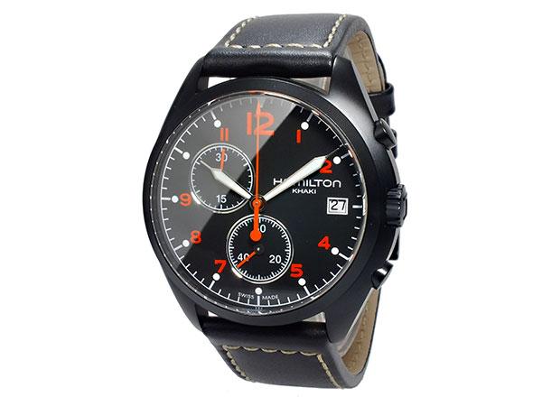 ハミルトン HAMILTON カーキ パイロット パイオニア クロノグラフ メンズ 腕時計 H76582733 レザーベルト-2
