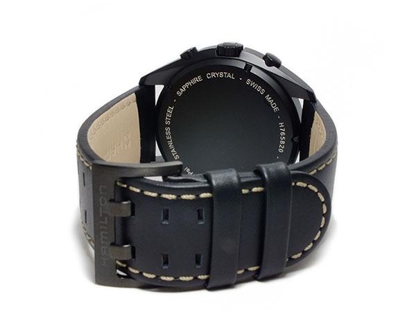ハミルトン HAMILTON カーキ パイロット パイオニア クロノグラフ メンズ 腕時計 H76582733 レザーベルト-3