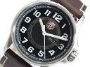Luminox LUMINOX field sports automatic men's watch 1801 black x brown leather belt