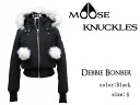 MOOSE KNUCKLES moosenacles down jacket Womens DEBBIE BOMBER MK2002LB black size: S (M size equivalent)