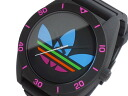 Adidas ADIDAS Santiago XL quartz watch ADH2970 black x multi-color rubber belt mens