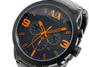 Armani Exchange ARMANI EXCHANGE chronograph men's watch AX1351 black × orange metal Albertina g.