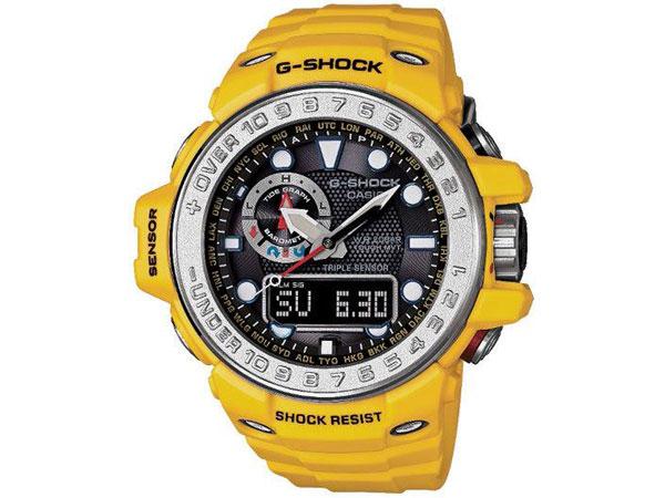 カシオ CASIO Gショック G-SHOCK ガルフマスター 電波 ソーラー アナデジ 腕時計 GWN-1000-9A イエロー ラバーベルト-1