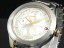 Tommy Hilfiger TOMMY HILFIGER multifunction mens watch 1710293 Silver / Gold metal belt