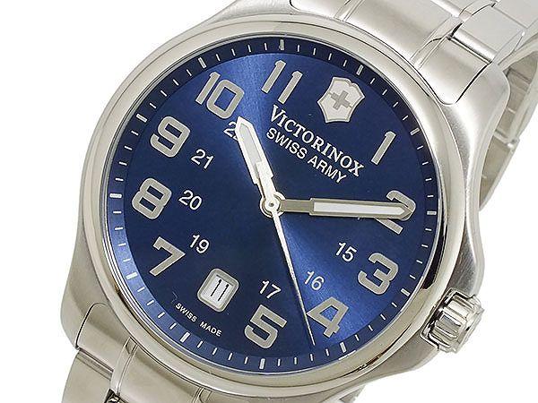 ビクトリノックス VICTORINOX スイス製 クオーツ メンズ 腕時計 241360 ブルー×シルバー メタルベルト-1
