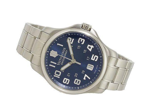 ビクトリノックス VICTORINOX スイス製 クオーツ メンズ 腕時計 241360 ブルー×シルバー メタルベルト-2