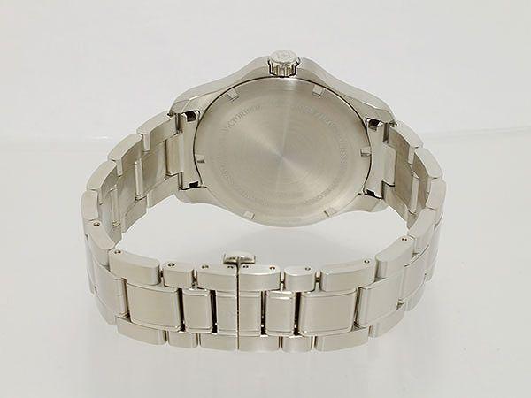 ビクトリノックス VICTORINOX スイス製 クオーツ メンズ 腕時計 241360 ブルー×シルバー メタルベルト-3