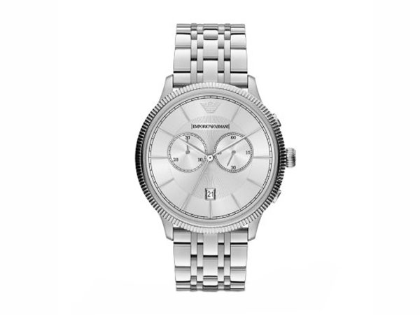 エンポリオ アルマーニ EMPORIO ARMANI クロノグラフ 腕時計 メンズ AR1796 シルバー メタルベルト-1