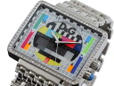 D & G Dolce & Gabbana MEDICINEMAN median man mens watch DW0753 silver x multicolor metal belt