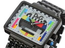 D & G Dolce & Gabbana MEDICINEMAN median man mens watch DW0754-black x multi-color metal belt