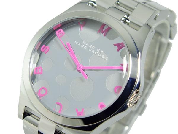 マーク バイ マークジェイコブス MARC BY MARC JACOBS レディース 腕時計 MBM3266 水玉/ドット ピンク×シルバー-1