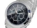 Timex TIMEX retrograde quartz men's watch T2M424 black x silver metal belt