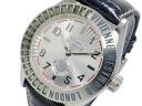 Vivienne Westwood VIVIENNE WESTWOOD logo watch men's VV007SL silver x black leather belt
