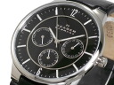 Skagen in SKAGEN multifunction quartz mens watch 331 XLSLB black leather belt