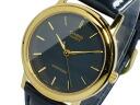 Casio CASIO standard STANDARD overseas model mens watch MTP-1095Q-1A gold x black leather belt