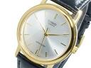 Casio CASIO standard STANDARD overseas model mens watch MTP-1095Q-7A silver x black leather belt