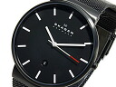Skagen in SKAGEN quartz mesh belt mens watch SKW6053 black metal belt