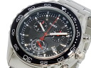 Timex TIMEX quartz chronograph men's watch T2N588 black x silver metal belt