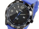 Timex TIMEX quartz men's watch T2P137 black x blue rubber belt