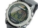 Timex TIMEX quartz digital alarm men's watch T49753 silver x black rubber belt