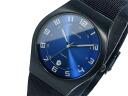 Bering BERING titanium quartz mens watch Hampton 11937-227 blue x Black mesh belt metal belt