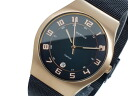 Bering BERING titanium quartz mens watch Hampton 11937-262 black x Gold Mesh belt metal belt