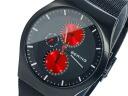 Bering BERING multifunction quartz mens watch 11942-229 Red × Black mesh belt metal belt