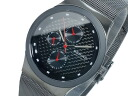 Bering BERING multifunction quartz mens watch 32139-309 carbon black x grey mesh belt metal belt