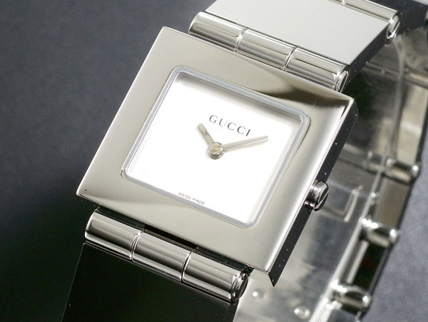 GUCCI グッチ スイス製 クオーツ 腕時計 レディース 600J-SV シルバー ブレスレット メタルベルト-1