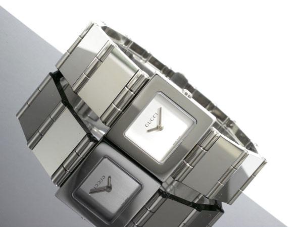 GUCCI グッチ スイス製 クオーツ 腕時計 レディース 600J-SV シルバー ブレスレット メタルベルト-2