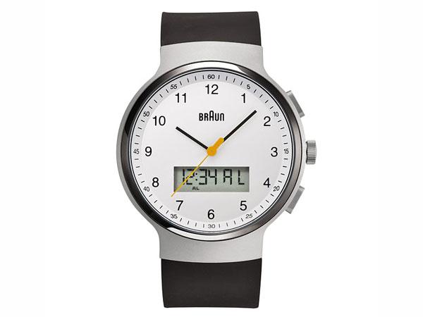 ブラウン BRAUN デュアルタイム アナデジ クオーツ メンズ 腕時計 BN0159WHBKG ホワイト×ブラック ラバーベルト-1