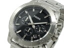 Fossil FOSSIL chronograph quartz men's watch CH2814 black x silver metal belt