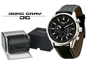 Jürg grey JORG GRAY secret service Edition quartz mens Chronograph Watch JG6500 leather belt