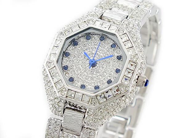 ルイラセール LOUIS LASSERRE 天然サファイア クォーツ レディース 腕時計 LL08SV-S シルバー×ブルー メタルベルト ブレスレット-1