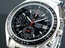 Casio CASIO edifice overseas models chronograph men's watch EF-503D-1 black x silver metal belt